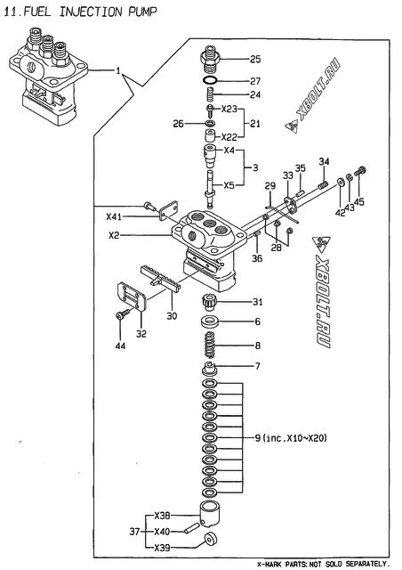 Топливный насос высокого давления (тнвд) двигателя Yanmar