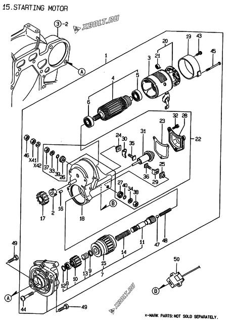 Стартер двигателя Yanmar 3TNE74-ENSR2 — XBOLT RU