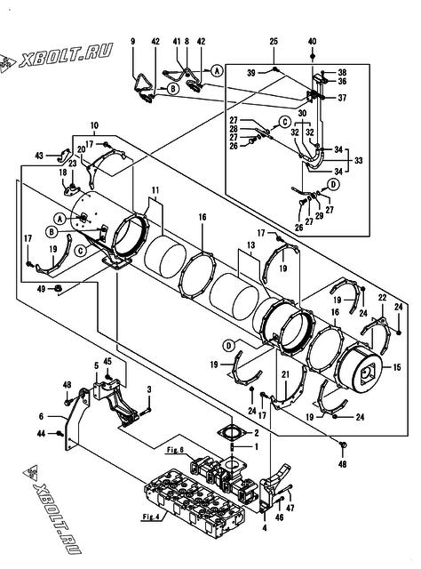 diesel particulate filter  dpf   u0434 u0432 u0438 u0433 u0430 u0442 u0435 u043b u044f yanmar 4tnv98c